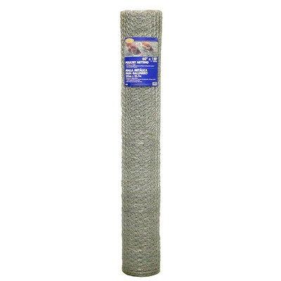 Gamp B 308406b 48-inch X 25-foot 1-inch Galvanized Mesh Hexagonal Poultry Netting