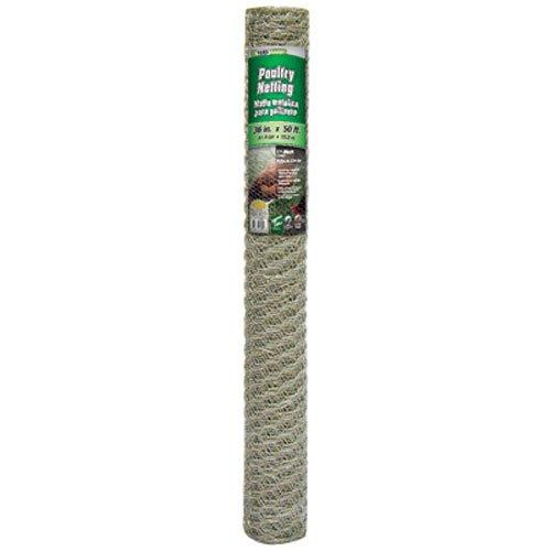 Gamp B 308421b 36-inch X 50-foot 1-inch Galvanized Mesh Hexagonal Poultry Netting
