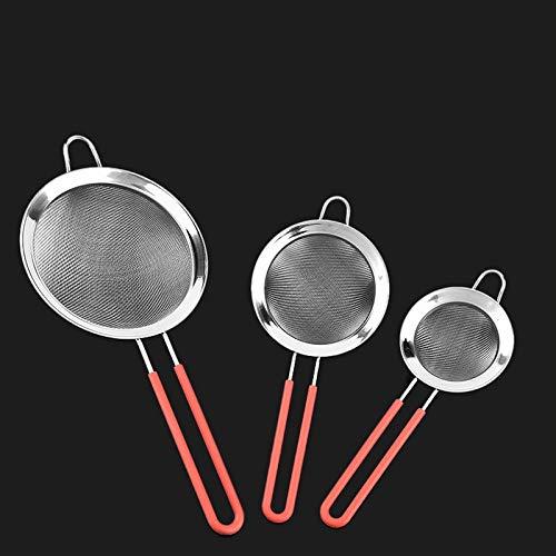 BIRD WORKS Stainless Steel Wire Mesh Filter Oil Frying Skimmer Strainer Tea Strainer Flour Sifter Sieve Colander Kitchen Accesories M