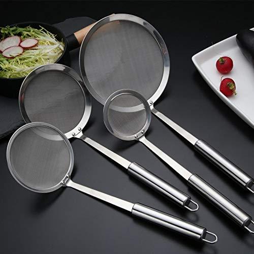 BIRD WORKS Stainless Steel Wire Mesh Filter Flour Sieve Filter Spoon Kitchen Utensils 235-118cm