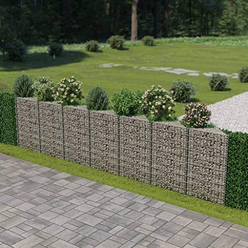 Festnight Gabion Planter Mesh Wire Fencing Galvanized Steel Patio Flower Plant Raised Vegetable Bed Basket Stone Walls Panel Wire for Garden Outdoor Landscape 1772 x 118 x 394 Inches L x W x H