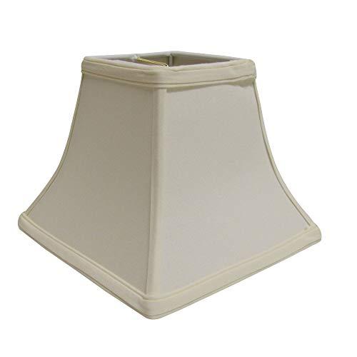 Cloth Wire Slant Square Bell Hardback Lampshade with Washer Fitter in Egg 14 in L x 14 in W x 12 in H 11 lbs