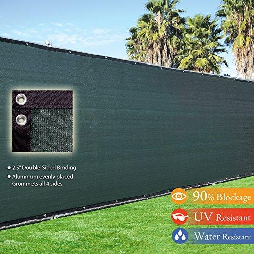 6 X 50 3rd Gen Olive Dark Green Fence Privacy Screen Windscreen Shade Fabric Mesh Tarp aluminum Grommets