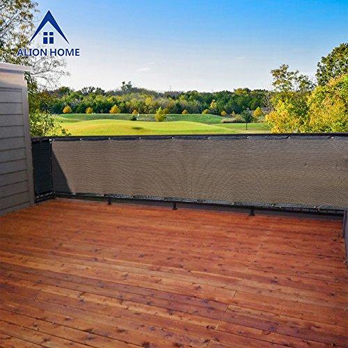 Al Heavy Duty Privacy Screen Fence Mesh Windscreen Backyard Deck Patio Balcony 3ft Height Brownmocha 3x16