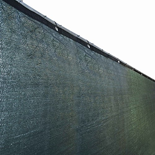 Aleko 6 X 150 Feet Dark Green Fence Privacy Screen Outdoor Backyard Fencing Privacy Windscreen Shade Cover Mesh