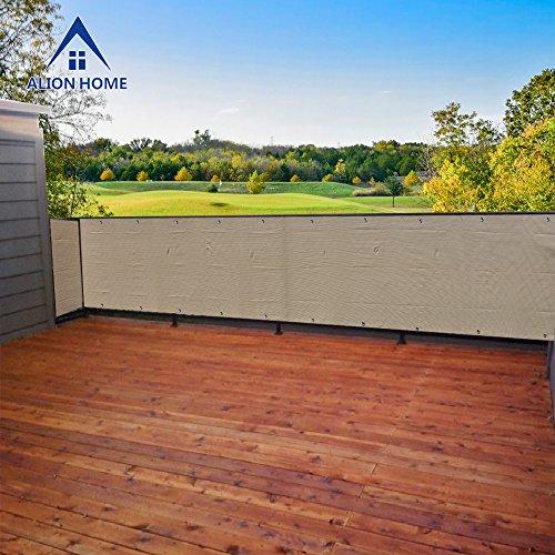 Alion Home Elegant Privacy Screen Mesh Windscreen For Backyard Deck Patio Balcony Pool Porch Fence No Black
