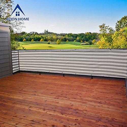 Alion Home&copy Elegant Privacy Screen Windscreen Mesh For Porch Railing Backyard Deck Patio Balcony Pool Fence