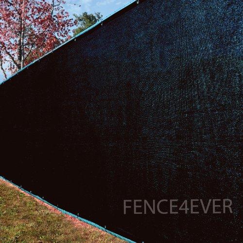 8x25 Black Fence Privacy Screen Windscreen Cover Shade Cloth Mesh Fabric Slats