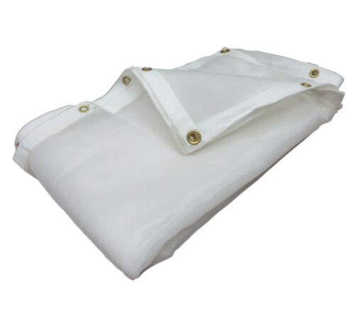 White Mesh Screen Shade Tarp Hauling Tarp wGrommets- Choose Size 6 x 10