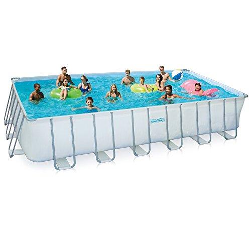 Summer Waves Rectangular Metal Frame Swimming Pool Package 12 x 24