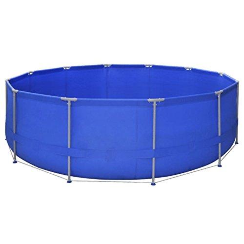 JedaJeda New Family Swimming Pool Steel Pro Round Frame Kids Above Ground Garden Backyard