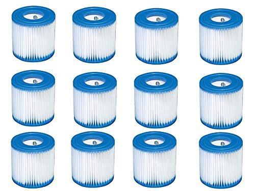 Replacement Intex 29007E Swimming Pool Filter Cartridge H - 12 Pack