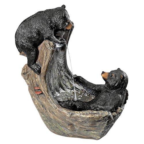 Design Toscano Bathing Black Bear Cubs Cascading Garden Fountain