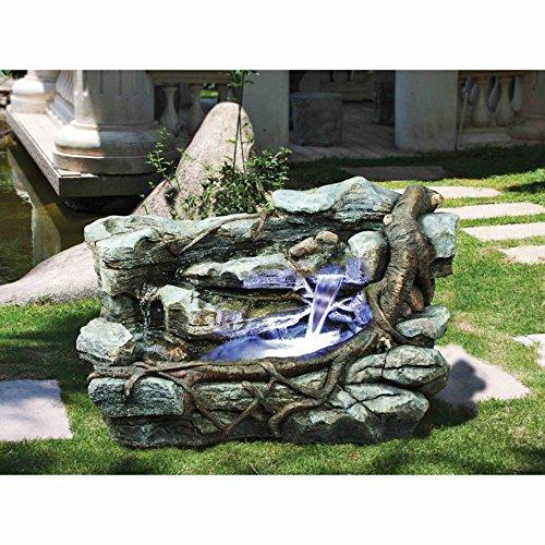 Design Toscano Staggered Rock Canyon Cascading Garden Fountain