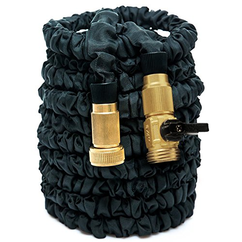 HOAEY 100ft Expanding Hose Flexible Garden Expandable Water Hose with Pipe Brass Fittings for Car Garden  100 Feet