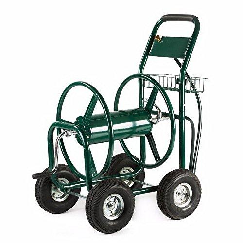Garden Water Hose Reel Cart 300FT Outdoor Heavy Duty Yard Water Planting New