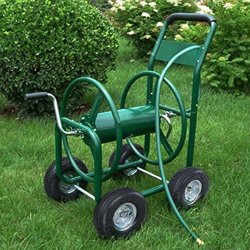 Garden Water Hose Reel Cart 300ft Outdoor Heavy Duty Yard Water Planting