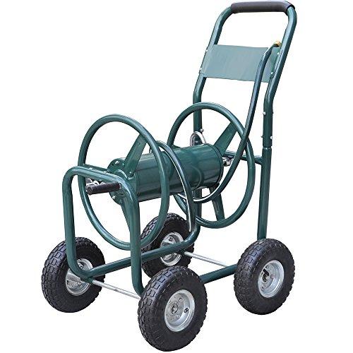World Pride New Garden 300 Heavy Duty Water Hose Reel Cart Yard Water Planting
