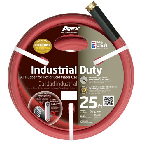 Apex 8695-25 Commercial 58-inch By 25-feet All Rubber Hot Water Hose Red