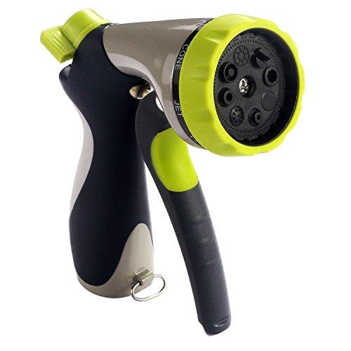 Amlion Patio Lawn Garden Hose Handheld Spray Water Nozzle With Practica 8 Adjustable Pattern Pistol Ergonomic