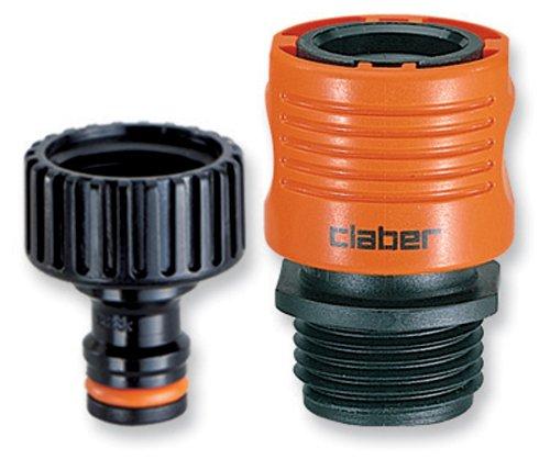 Claber 8458 Faucet To Garden Hose Quick Connector Set