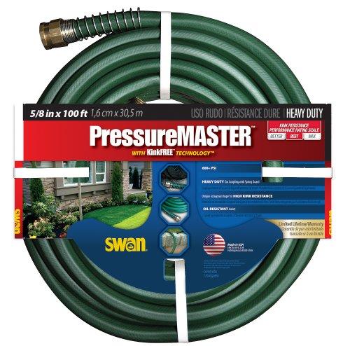 Swan Pressure Master SN7958100 Premium Heavy Duty 58 x 100-Foot Green Garden Hose