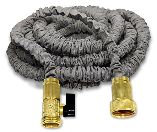 New 25 Expanding Hose By titan Professional Grade Expandable Garden Hose Solid Brass Connectors Durable