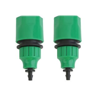 Begrit Garden Hose Pipe One Way Adapter Tap Connector Fitting For Irrigation 2-pack