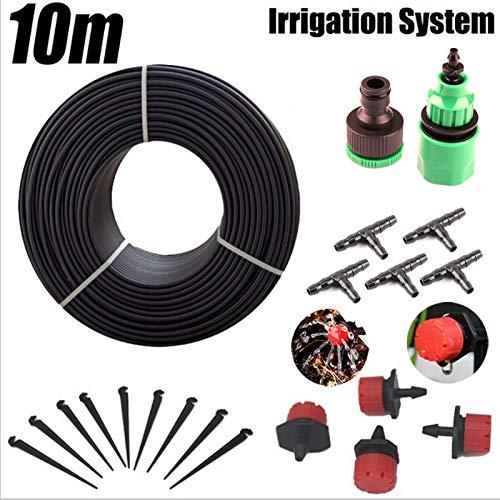 HANDYCRF 10m Garden Hose Drip Irrigation System Micro Irrigation Kits Bonsai Flower Water Drip Kit Gardening Watering System Kit
