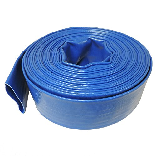 2&quot Dia X 50 Ft Hydromaxx&reg Heavy Duty Lay Flat Pool Dischargeamp Backwash Hose For Pumps And Water Transfer Applications
