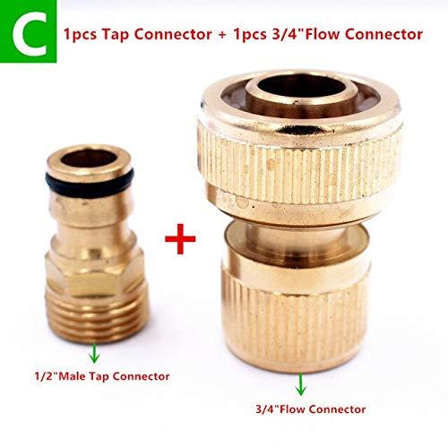 Garden Water Connectors Thread Tap Connector  Flow Connectors  Thread Watering Faucet Water Hose End Connector