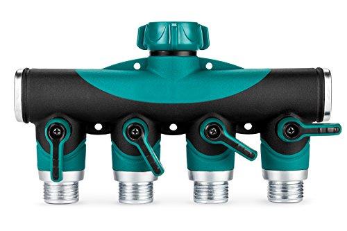 Greenyard 4 Way Garden Hose Connector Y Hose To Hose Splitter Arthritis Friendly Watering Splitter