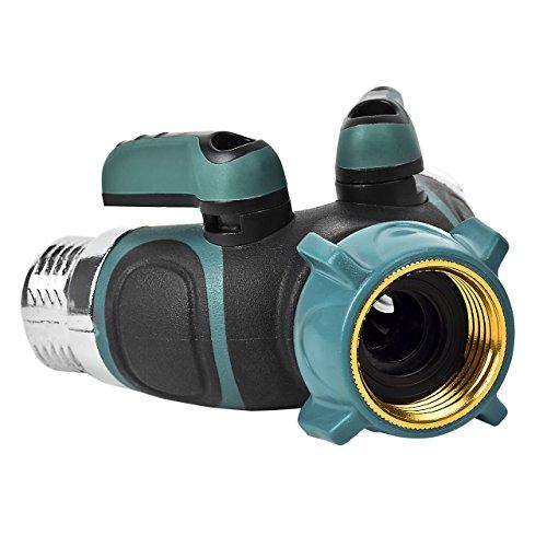 Newcomdigi Garden Hose Splitter Water Hose Splitters 2 Way Metal Body Y Hose Connector
