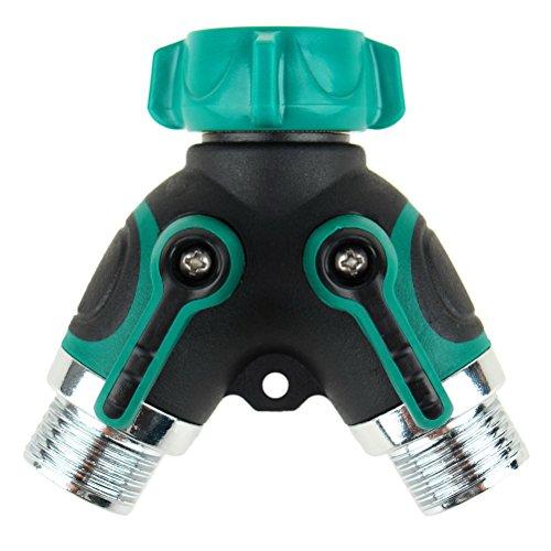 The Seventh 2 Way Garden Water Hose Splitter Y Ball Valve Hose Connector Fits Ourdoor Faucet