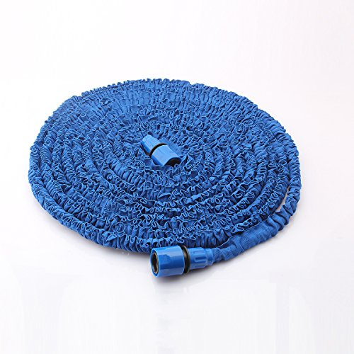 Dazone Blue Garden Shrinking Expanding Water Hose for Windows Gardens Terraces Patios and More Which Could Stretch to 3 Times its Original Length 75 Feet
