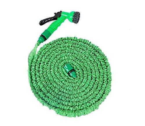 100 Feet Expanding Magic Hose with Gun Water Garden Pipe Green Flexible Expandable Garden Water Hose