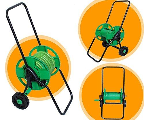 Garden Yard Watering Storage Hose Cart 148 Ft Capacity Slide Track 2 Wheel Reel