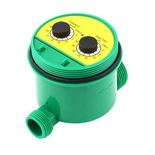 CreameBrulee Two Dial Home Water Timer Garden Irrigation Controller 1-16 Set Programs