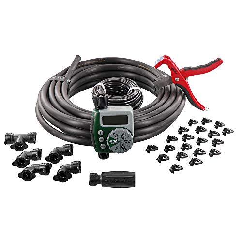 Orbit 61014 Garden Box Drip Watering Hose Faucet Timer Sprinkler Kit Green Gray