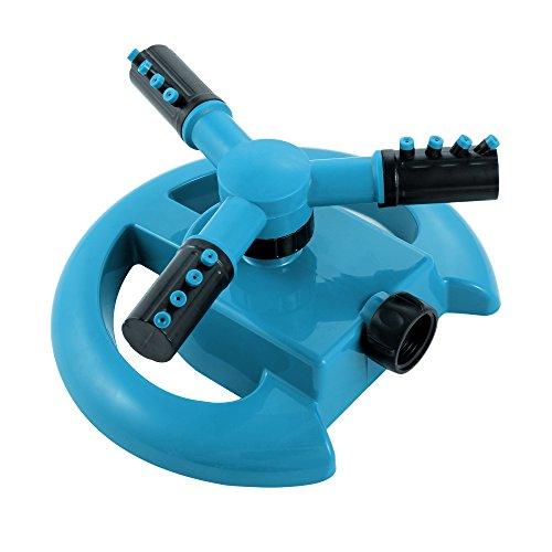 Enrose Lawn Sprinkler 3-arm 360-degree Rotation Water Sprinkler Durable Effective Lawn Garden Sprinkler System
