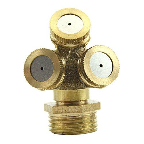 Kangnice2pcs Brass Agricultural Misting Spray Nozzle Garden Sprinkler Irrigation System