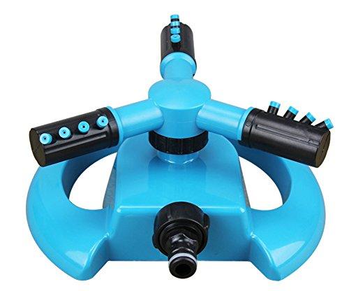 BleuMoo Garden Greenhouse Mobile Automati 360 Degree Rotary Spray Head Garden Lawn Sprinkler Irrigation Watering Supplies