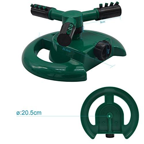 Lawn SprinklerAutomatic Rotary Three Arm Sprinkler Heads 360 Degree ABS Base Garden Sprayer Water Sprinklers