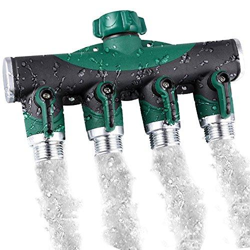 Hose Splitter Mengar 4 Way Garden Hose Splitter Water Saving Garden Hose Connector - Home Garden Watering System