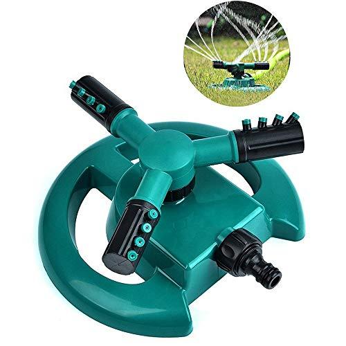 Wllsagl Xouwvpm Lawn Sprinkler Garden Sprinkler Head Automatic Water Sprinklers 360°Rotation Trident Rotary Sprinkler green