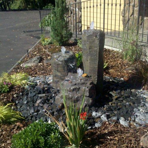 Cascade Mini-mountain Spring Triple Bubbler Fountain