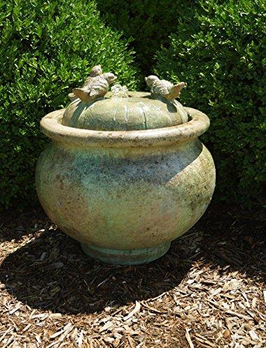 HENRI STUDIO Birds Patio Bubbler Fountain 5326F2A Shown in Relic Hi-Tone RH