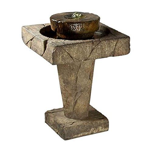 Henri Studio 2 Piece Stone Edge Bubbler Fountain Relic Terra