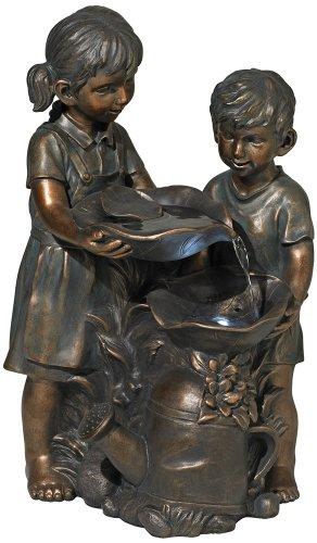 Boy And Girl Indooroutdoor Bronze Fountain