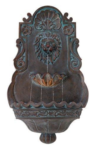 Lion Head Iron - Bronze 31 12&quot High Indoor Outdoor Fountain